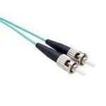 1 Meter LC-ST, OM3 Fiber Optic Cable, 10Gig, Aqua, PVC Jacket, 50/125, MM DX