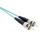 1 Meter SC-SC, OM3 Fiber Optic Cable, 10Gig, Aqua, PVC Jacket, 50/125, MM DX