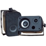 3.5'' Indoor/Outdoor Waterproof Speakers - Black, Pair