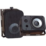 "5.25"" Indoor/Outdoor Waterproof Speakers - Black, Pair"
