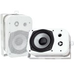 "5.25"" Indoor/Outdoor Waterproof Speakers - White, Pair"