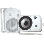 "Pyle 6.5"" Indoor/Outdoor Waterproof Speakers - White, Pair PDWR50W"