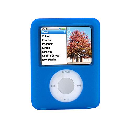 zCover iSA micro3 Silicone Case Original Pack fits Apple iPod nano (3rd Gen.) BLUE