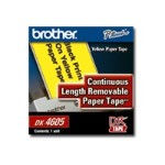 "Brother Continuous Length Removable Paper- Black/Yellow 2-3/7"" DK4605"