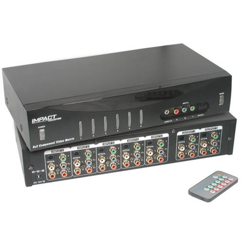 Cables To Go 6x2 Component Video Matrix Selector - video/audio switch - 6 ports - desktop