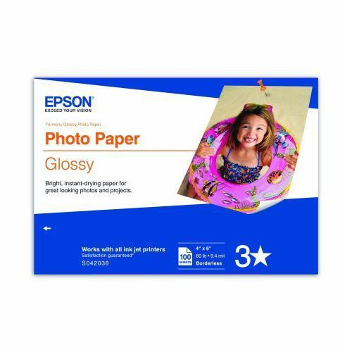 Epson 4 x 6 inch Photo Paper Glossy - 100 Sheets