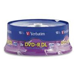 DVD+R DL (Double Layer) 8.5GB 8X - 15 pack, Spindle