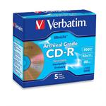 Verbatim Archival Grade CD-R 80MIN 700MB 52X 5pk Jewel Case 96319