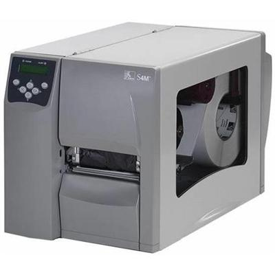 Zebra Tech S4M Monochrome Direct Thermal / Thermal Transfer Label Printer - Serial, USB, 802.11b, 802.11g (S4M00-2001-0400T)