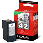 Lexmark #42 Black Print Cartridge-Return Program 18Y0142