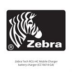 Zebra Tech RCLI-AC Mobile Charger - Battery charger - AC 110-240 V - United States - for RW 220, RW 420; QL 220, 220 Plus, 320, 320 Plus, 420, 420 Plus CC16614-G4