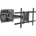 "Peerless SmartMount Articulating Wall Arm SA750PU-S - Mounting kit ( wall plate, articulating arm, adapter plate, bracket adapter ) for LCD / plasma panel ( Tilt & Swivel ) - cold-rolled steel, fused epoxy - high-gloss silver - screen size: 32"" - 50"" SA750PU-S"