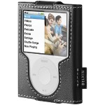 Leather Sleeve Case for iPod nano Third Generation - Black