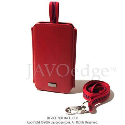 JAVOedgePull Out Leather Case for Apple iPod Touch 8GB/16GB - Red(PLEA-91145-C08)