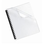 Fellowes Crystals Clear Binding Covers, Letter Size, 100 Pack 52089