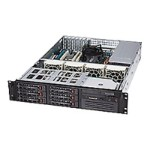Supermicro SC822 T-400LP - Rack-mountable - 2U - extended ATX - SATA - hot-swap 400 Watt - black