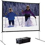 Da Lite Fast-Fold Deluxe Screen System - Projection screen - 4:3 - Da-Mat 88612