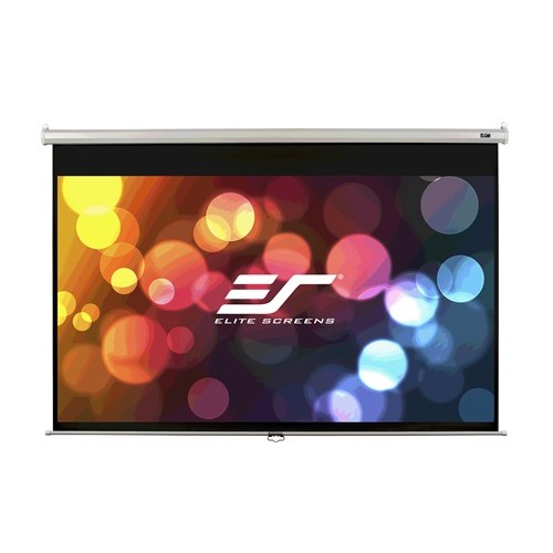 "Elite Screens 85"" Manual (1:1) Pull Down Projector Screen"