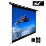 "VMAX2 Series EZ Electric VMAX120UWH2 - Projection screen - ceiling mountable, wall mountable - motorized - 120"" (120.1 in) - 16:9 - Matte White - black"