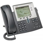 Unified IP Phone 7942G - VoIP phone - SCCP, SIP - silver, dark gray