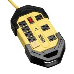 Safety Surge Protector 120V 8 Outlet Metal 12' Cord OSHA - Surge protector - 15 A - AC 120 V - output connectors: 8 - black, yellow