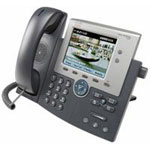 Unified IP Phone 7945G - VoIP phone - SCCP, SIP - 2-line operation - silver, dark gray