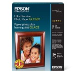 Ultra Premium Glossy Photo Paper - Photo paper - glossy - 11.8 mil - Letter A Size (8.5 in x 11 in) 50 sheet(s) - for Expression ET-3600; Expression Home XP-434; Expression Premium XP-830; WorkForce ET-16500