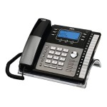 RCA ViSYS 25424RE1 - Corded phone with caller ID/call waiting - 4-line operation - black, silver 25424RE1