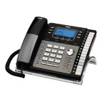 RCA ViSYS 25425RE1 - Corded phone - answering system with caller ID/call waiting - 4-line operation - black, silver 25425RE1