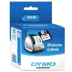 Dymo Diskette Labels - White, Permanent Adhesive 400 Rolls 30258