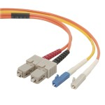 Mode conditioning cable - LC single-mode (M) to SC multi-mode (M) - 3 m - B2B
