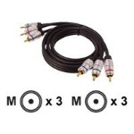 Video cable - component video - RCA (M) to RCA (M) - 10 ft - shielded
