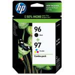 96/97 Combo Pack - 2-pack - black, color (cyan, magenta, yellow) - original - ink cartridge - for Deskjet 69XX; Officejet 72XX; Photosmart 26XX, 27XX, 80XX, 81XX, 84XX, 87XX, Pro B8350