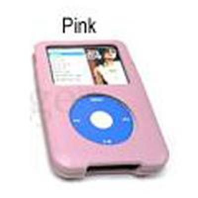 JAVOedge Hard Form Fitted Leather Case for Apple iPod Classic 80GB - Pink (PLEA-91150-C07)