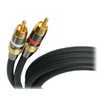 StarTech Premium - Audio cable - RCA (M) to RCA (M) - 20 ft - black AUDIORCA20