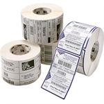 Zebra Tech Z-Ultimate 3000T - Perforated glossy permanent acrylic adhesive polyester labels - pearl white - 2 in x 1 in 30360 label(s) ( 12 roll(s) x 2530 ) - for Desktop GX420, GX430; G-Series GC420, GK420, GX420, GX430; H 2824; LP 28XX; TLP 28XX 17157