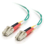 3m LC/LC Duplex 50/125 Multimode Fiber Patch Cable - Green