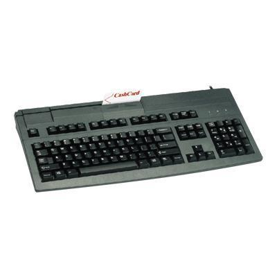 Cherry G81-8000 Black USB keyboard with 3-track magnetic stripe reader and US 104 position key layout. (G81-8000LUVEU-2)