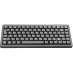 Compact-Keyboard G84-4100 - Keyboard - PS/2, USB - US - light gray