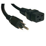 Heavy-Duty Power Cord, 15A, 14AWG (IEC-320-C19 to NEMA 5-15P), 10-ft.