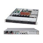 "Supermicro SuperServer 6015C-NTRB - Server - rack-mountable - 1U - 2-way - RAM 0 MB - SATA - hot-swap 3.5"" - no HDD - DVD - ATI ES1000 - GigE - monitor: none"