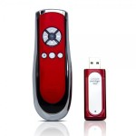 SP400 Smart-Pointer (Red) 2.4Ghz RF Wireless Presenter with mouse function and laser pointer for Mac and PC - Red