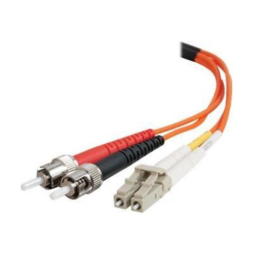 Cables To Go OM1 LC/ST Plenum-Rated Duplex 62.5/125 Multimode Fiber Optic Patch Cable - patch cable - 33 ft - orange