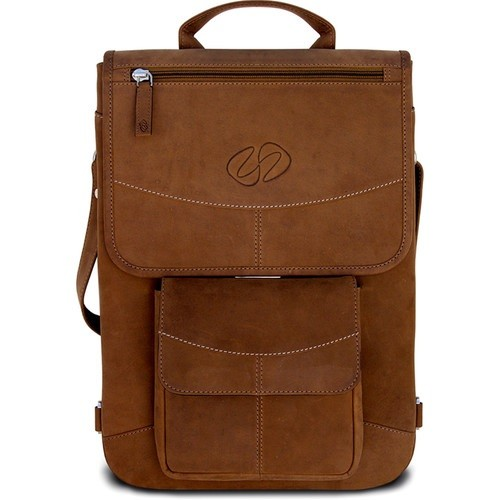 "MacCase 15"" Premium Leather MacBook Pro Flight Jacket with Backpack Strap Option - Vintage"