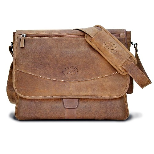 MacCase Premium Leather Shoulder Bag - Vintage