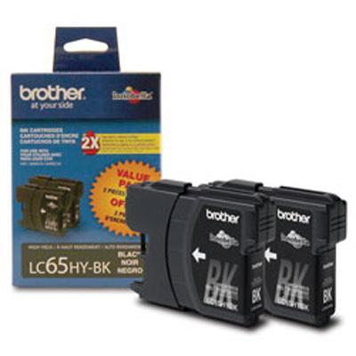 Brother LC65 Black high yield ink cartridges - 2 pack (LC652PKS)