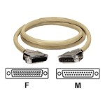 ED/Q with Die-Cast Removable Metallic EMI/RFI Hoods - Serial cable - DB-25 (F) to DB-25 (M) - 5 ft - stranded