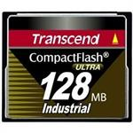 Transcend Ultra Speed Industrial - flash memory card - 128 MB - CompactFlash TS128MCF100I