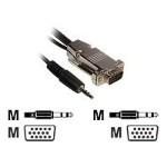 VGA / audio cable - HD-15, stereo mini jack (M) to HD-15, stereo mini jack (M) - 75 ft - plenum - black
