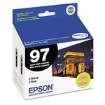 Epson DURABrite Extra High-Capacity Black Ink Cartridge - Dual Pack T097120-D2